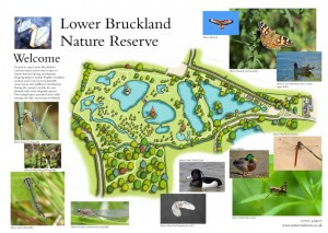 Map of Lower Bruckland Farm nature reserve