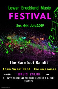 Lower Bruckland Music Festival poster